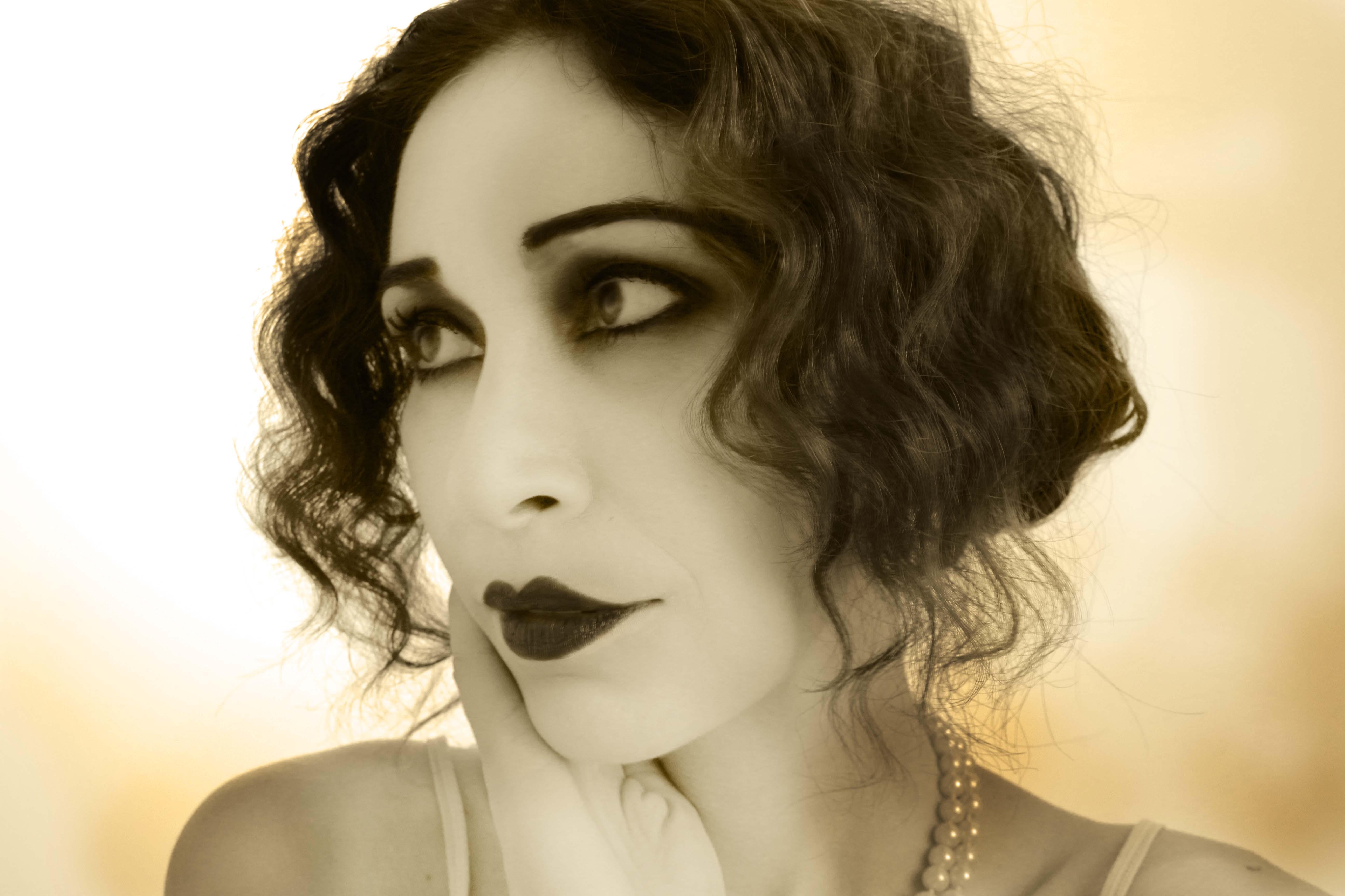 immagine stile foto 1920 trucco d'epoca sfumature make up & beauty