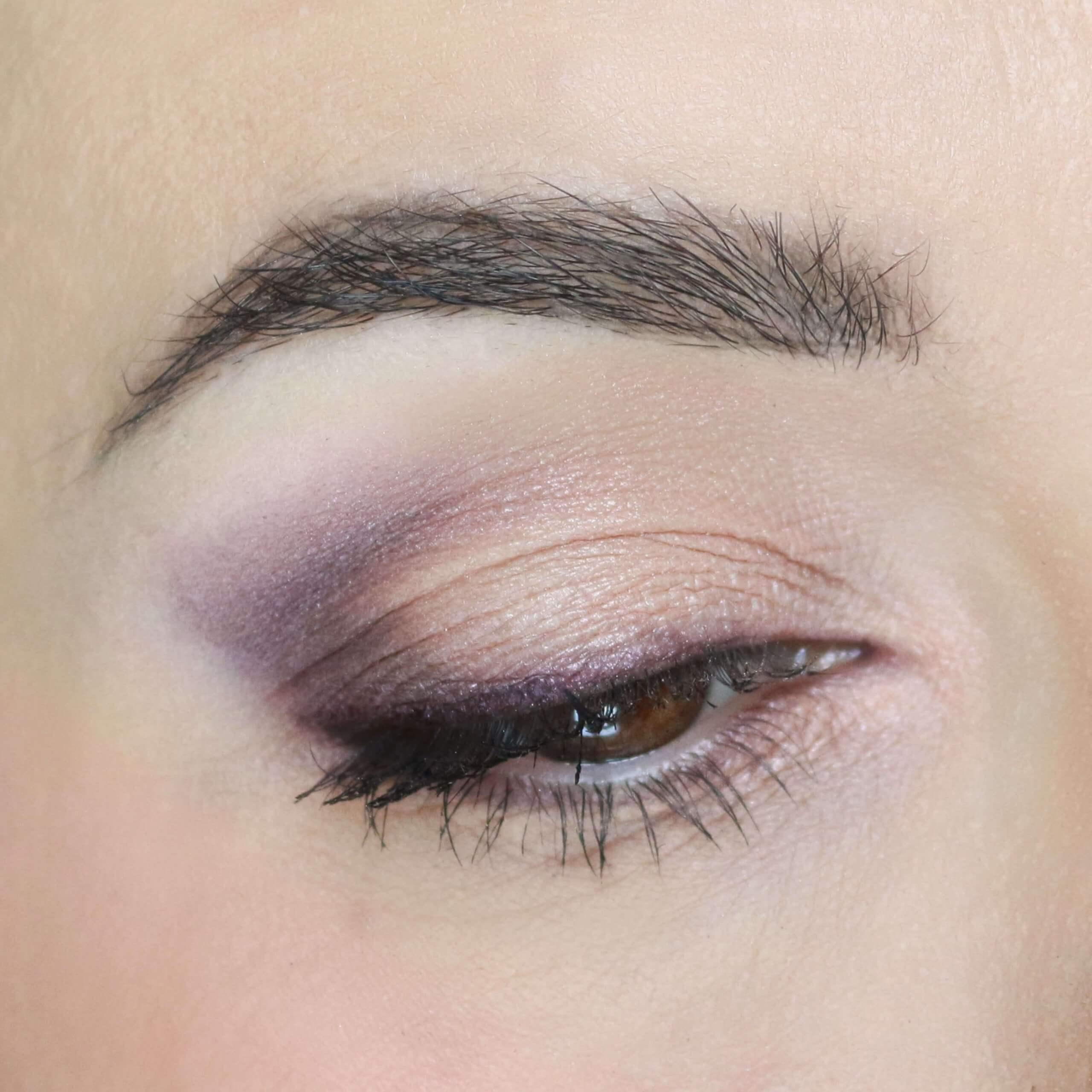 Trucco occhi principianti rosa e viola